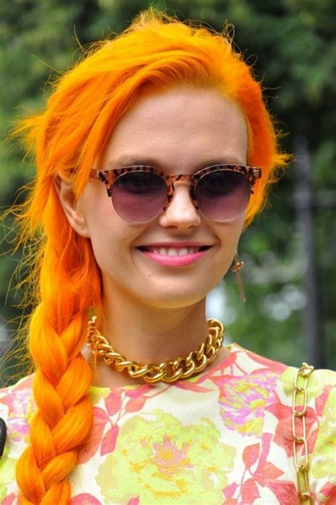 bright orange hair color hair colors to try for summer glam radar