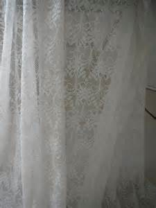 Shabby Chic White Curtains Shabby Chic White Curtain Panel Lace Sheer By Thehouseofshabby