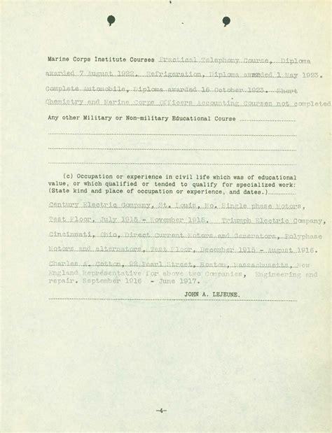 Proof Of Service Letter Navy usmc statement of service letter