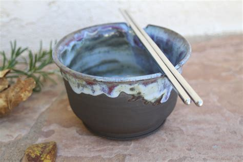 black clay soup bowl handmade ceramic ramen dish rice