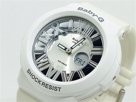Bga 160 7b1 楽天市場 カシオ casio ベビーg baby g アナデジ 腕時計 bga 160 7b1 レディース シルバー 215 ホワイト ラバーベルト aaa net shop