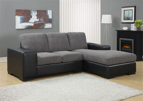 Corduroy Sectional by Charcoal Gray Corduroy Black Sofa Sectional From Monarch