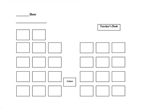 classroom seating arrangement templates classroom layout