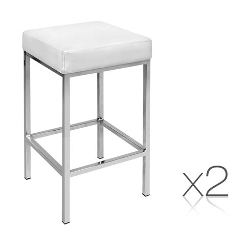 Bar Stool Kitchen Set by Set Of 2 Pu Leather Kitchen Bar Stool White