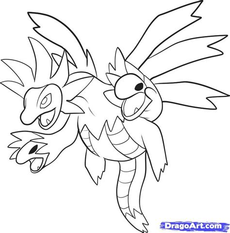 pokemon coloring pages hydreigon printable pictures of pokemon characters coloring home