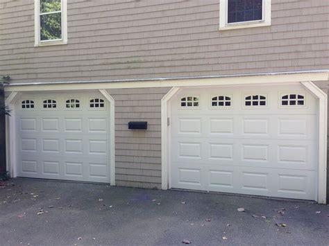 Overhead Garage Door Panels C H I Overhead Doors Model 2216 Steel Raised Panel Garage Doors In White With Cascade Glass