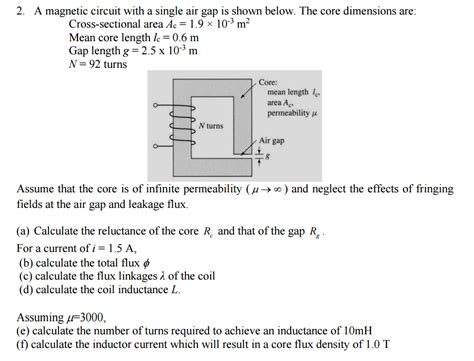 inductor gap length inductor air gap length 28 images field strength magnetism physics reference with worked
