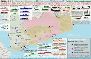 war in yemen map infographic of foreign