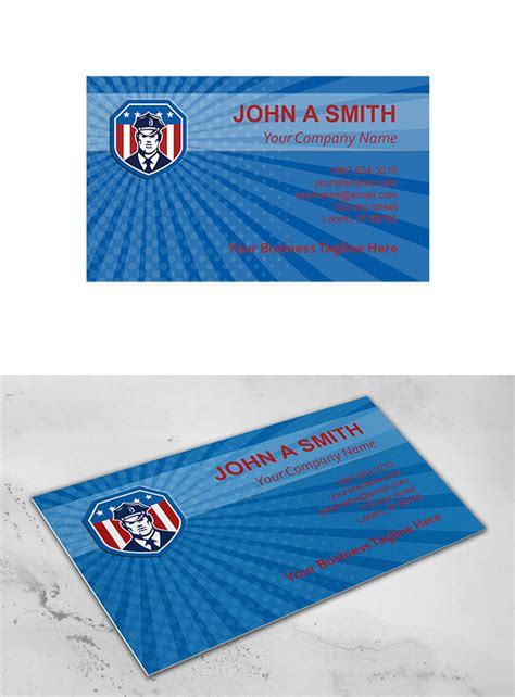 security officer card template business card template american secu business card