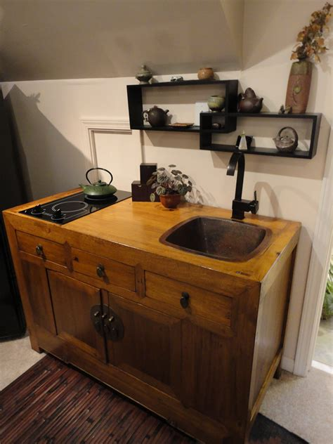 Kitchen With Stove In Island by Handmade Mini Kitchens