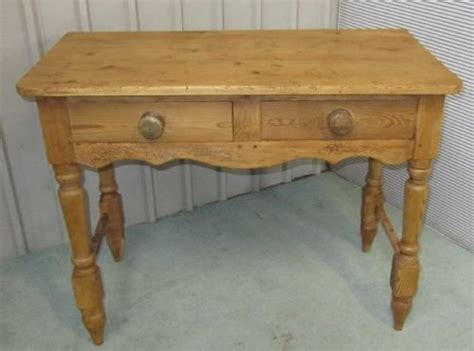 Antique Pine Writing Desk by Rustic Pine Writing Desk Side Table Wash Stand
