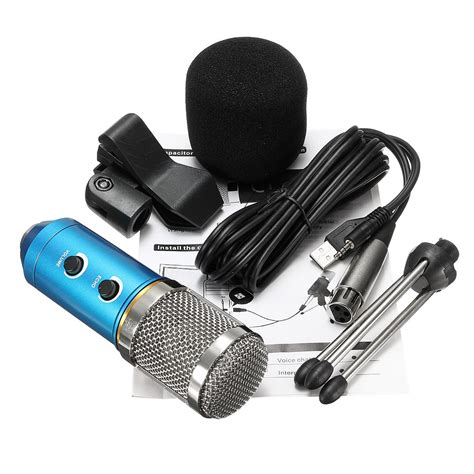 Microphone Condenser Pw 646 mk f200tl audio usb condenser microphone enregistrement sonore microphone vocal support pour