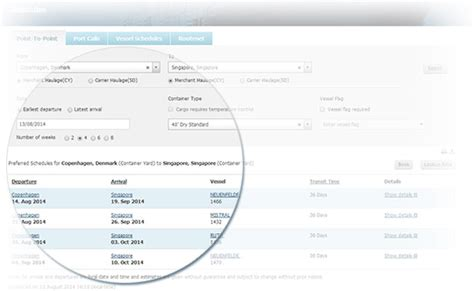 maersk schedule by maersk line shipping made simple