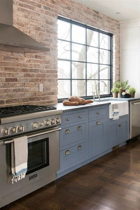 exposed brick wall kitchen pinney designs