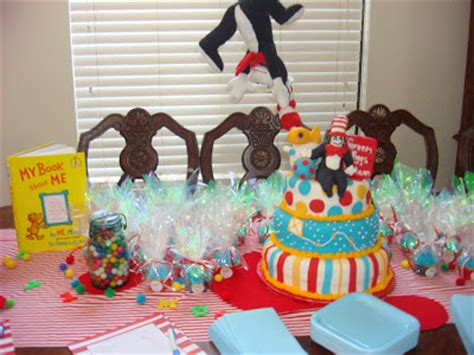 Cat In The Hat Baby Shower Decorations by Join The Gossip A Dr Seuss Themed Baby Shower