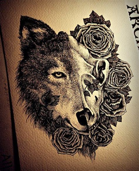 sick tattoo designs sick wolf design roses tattoos ink designs
