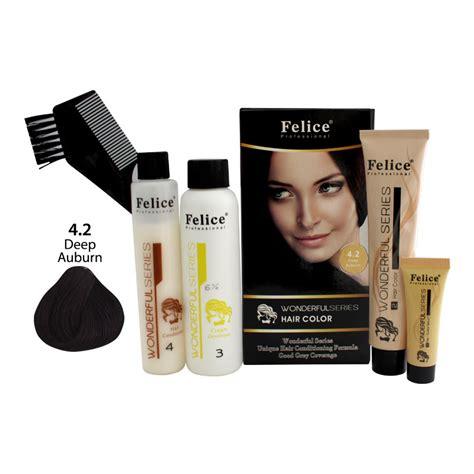 Felice Professional Hair Color 74 Pewarna Rambut felice professional hair colour wonderfull series