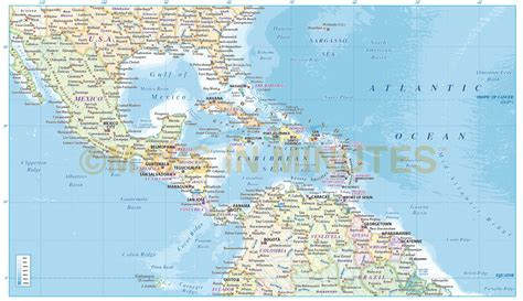 america map in pdf central america vector map in illustrator and pdf format