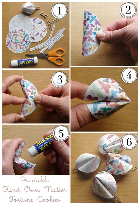 How To Make A Paper Fortune Cookie - it s written on the wall tutorial paper fortune