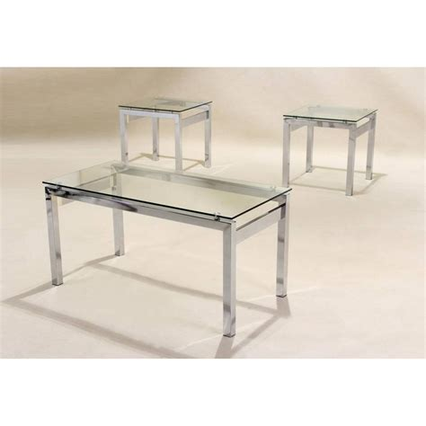 Glass End Tables And Coffee Tables 30 Collection Of Chrome And Glass Coffee Tables