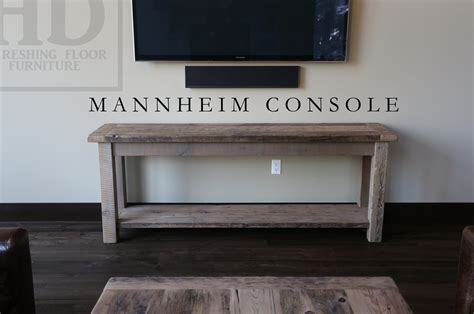 sofa table toronto reclaimed wood console media table in toronto ontario