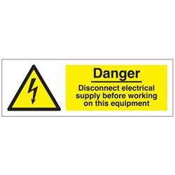 danger disconnect electrical safety sign hazard