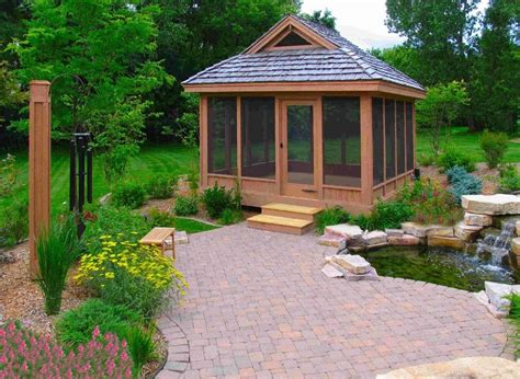 gazebo garage screened in gazebo garage and shed traditional with
