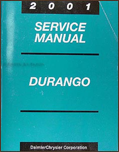 2001 dodge durango original service manual download manuals 2001 dodge durango repair shop manual original