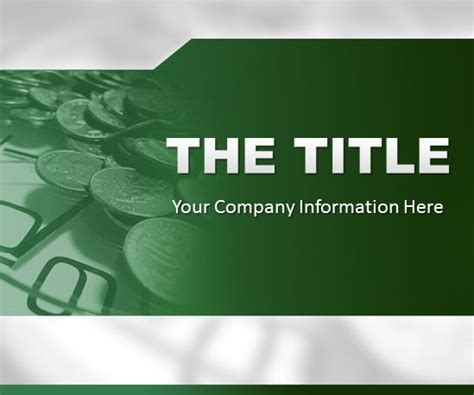 template ppt finance free green finance powerpoint template