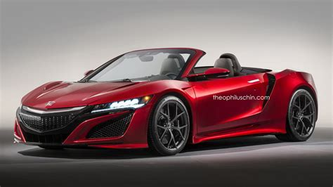 honda convertible honda nsx convertible gets rendered forcegt com