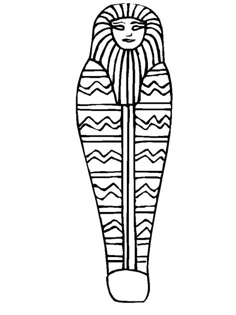 sarcophagus coloring page az coloring pages