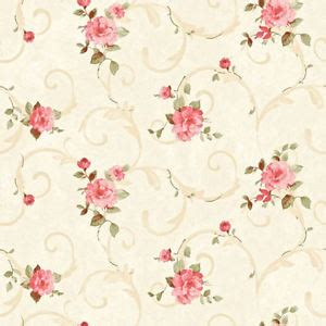 dollhouse miniature shabby chic wallpaper pink amp tan roses
