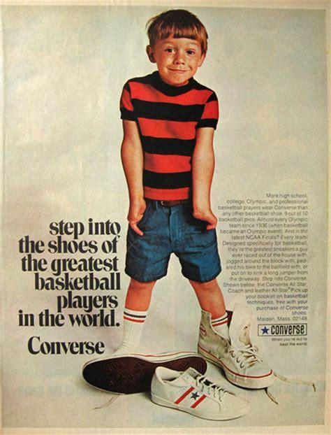 Ad Mid Allstar 1970 vintage converse all sneakers ad vintage magazine ads