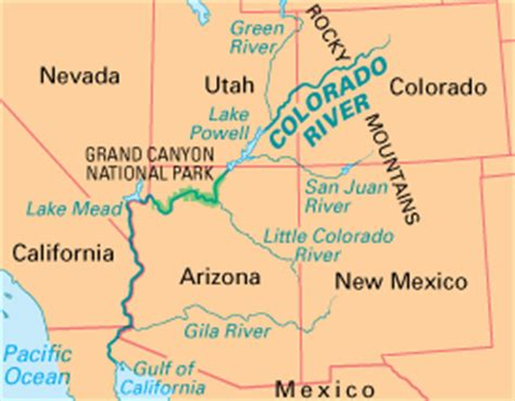 where is the colorado river located on a map tragedy of the commons hits colorado river ecology110george