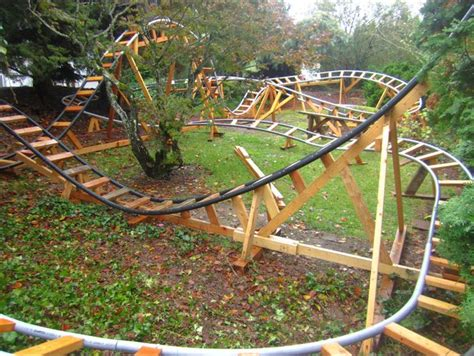 backyard wooden roller coaster retired grandpa uses free time to build backyard roller