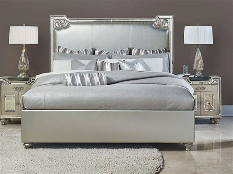 aico bel air park upholstered bed 9002000ek3 201