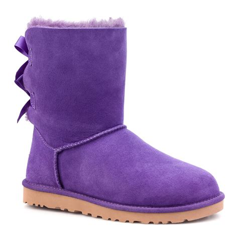 purple ugg slippers ugg boots purple bow