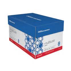 office depot brand multiuse paper letter size paper 94 u s