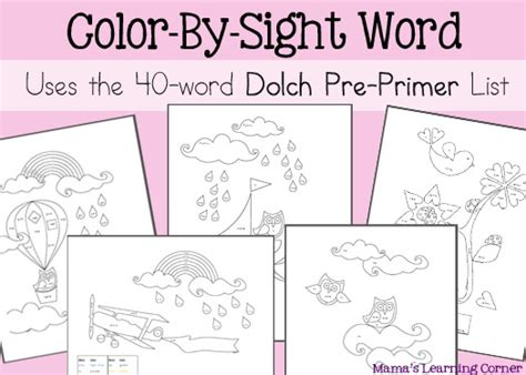 Free Coloring Pages Of Meet The Sight Words 1 Free Sight Word Coloring Pages
