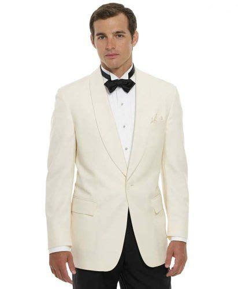 Jaket B Bross s 100 s wool white shawl dinner jacket by