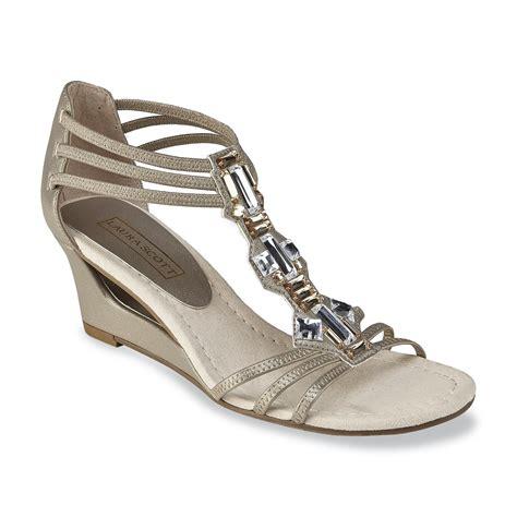 Sandal Wedges Jepit Spon 64 s midnight silver embellished wedge sandal shoes s shoes s
