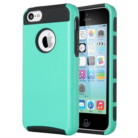 iphone 5c rugged for apple iphone 5c heavy duty hybrid shockproof rugged cover ebay
