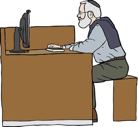 art desk for 6 year old フリーイラスト素材 クリップアート おじいちゃん おじいさん 老人 高齢者 デスクワーク pc