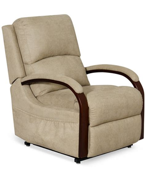 S Recliner Chairs Percey Fabric Power Lift Recliner Chair Furniture Macy S