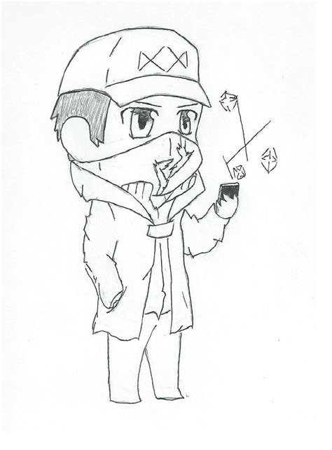watch dogs coloring page watch dogs chibi by imasplee1 on deviantart