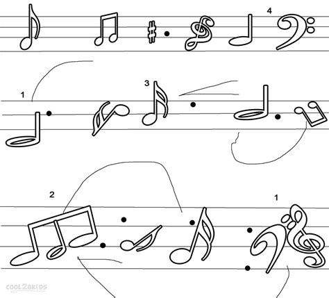 coloring pages free music music note printable coloring pages