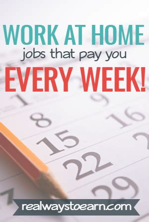 List Of Online Jobs To Work From Home - 50 online jobs that pay weekly and daily legit researched