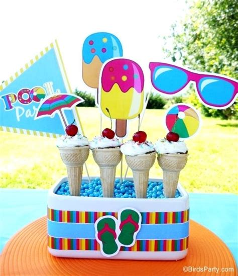 pool party decorations top 25 ideas about pool party on pinterest mesas candy