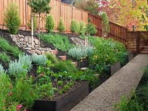 Small Sloped Backyard Ideas Landscape Design Ideas For Sloped Backyard Backyard Landscaping Planters