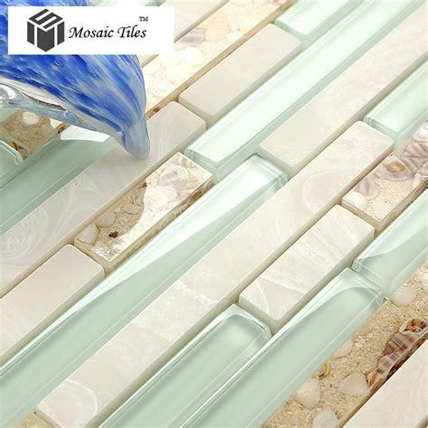 style of pearl tile resin glass tile aqua